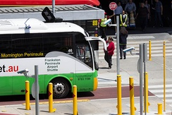 Melbourne Airport was the first Australian Airport to use ANPR technology to charge buses for access to bus pick up lanes.