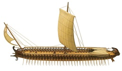 reconstruction of ancient Greek Trireme