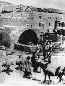 "Alleged ""Mary's well"" in Nazareth, 1917."