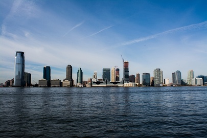 Skyscrapers in Jersey City, one of the most ethnically diverse cities in the world.[105][106]