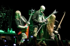 Technical death metal band Nile performing in 2010.