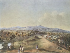 North Terrace in 1841