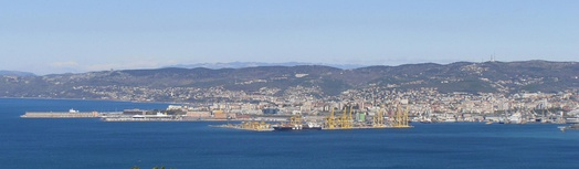 Port of Trieste, the largest port in the Adriatic