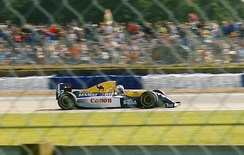 Prost driving a Williams-Renault FW15C at Silverstone in 1993