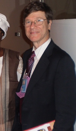 Sachs at a UN meeting in 2009