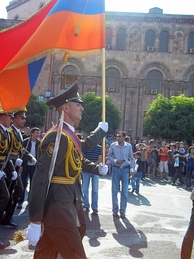 The 21 September 2011 parade in Yerevan, marking the 20th anniversary of Armenia's re-independence