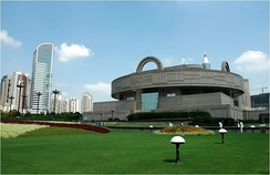 The Shanghai Museum, located on the People's Square