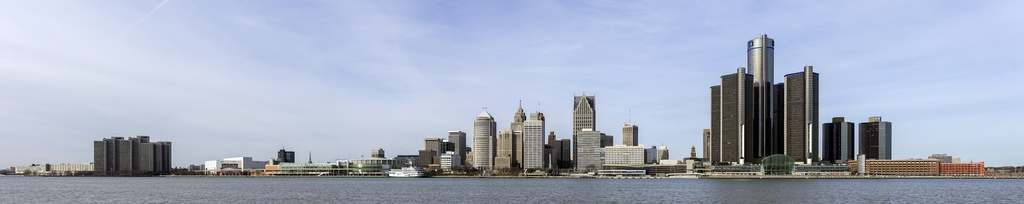 Panorama of the Detroit International Riverfront