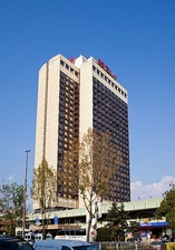 Hotel Rodina, an example of Brutalist architecture