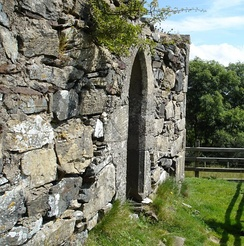 The remains of St. Columba's Church, Gartan, County Donegal.