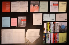 The extensive, official voting and election material regularly sent to every citizen each time – usually four times a year – compromising the pros and cons by all political proponents; here, to Berne's citizen in November 2008 about 5 national, 2 cantonal, 4 municipal referendums, and 2 elections (government and parliament of the City of Berne).