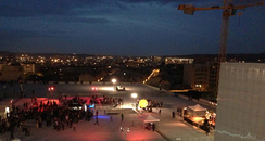 Night event on the terrasse of the Friche