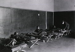 As U.S. troops deployed en masse for the war effort in Europe, they carried the Spanish flu with them.