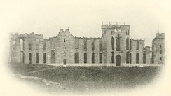 The ruins of the Virginia Military Institute after Hunter's Raid in 1864.