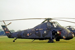 No. 72 Squadron Westland Wessex HC.2 based at RAF Odiham wearing tactical camouflage in 1971.