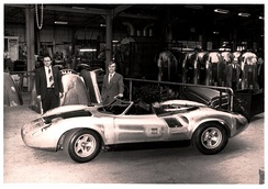 Jaguar XJ13 during assembly at Abbey Panels after the MIRA crash