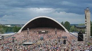A choir of more than 30,000 participants performing to an audience of 80,000 on the 25th Estonian Song Festival