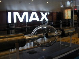The 15 kW Xenon short-arc lamp used in IMAX projectors.