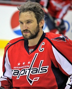 Ovechkin during the 2016–17 season. In January 2017, he became the 84th NHL player to reach the 1,000-point milestone in the NHL.