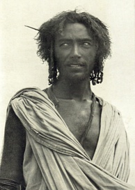 Afar man in traditional nomadic attire.
