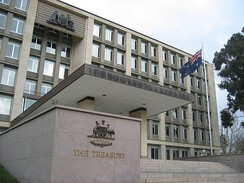 Many Canberrans are employed by government departments, such as the Treasury.