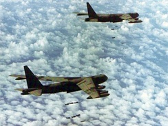 B-52 Stratofortresses on a mission in Southeast Asia