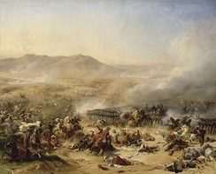 The Battle of Mount Tabor against the Ottomans