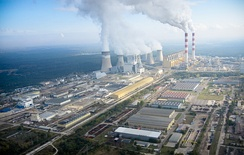 Bełchatów Power Station is a lignite-fired power station that produces 27–28 TWh of electricity per year or twenty per cent of the total power generation in Poland.