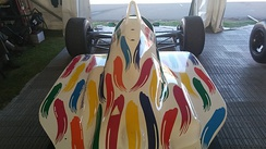 Engine cover of Benetton B186 BMW Formula 1 car