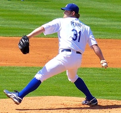 Brad Penny was the Dodgers' Opening Day starting pitcher in 2008.