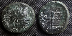 O: head of river-god Strymon R: trident This coin imitates Macedonian issue from 187 to 168 BC. It was struck by Serdi tribe as their own currency