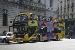Buenos Aires Bus, the city's tourist bus service. The official estimate is that the bus carries between 700 and 800 passengers per day, and has carried half a million passengers since its opening.[184]