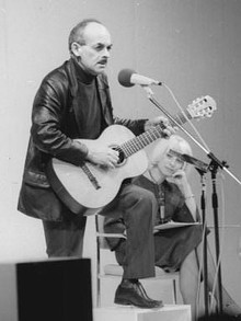 Okudzhava performing at Palace of the Republic, Berlin, Germany, 1976