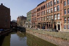 Canal Street, one of Manchester's liveliest nightspots, part of the city's gay village