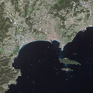 Cannes seen from Spot Satellite