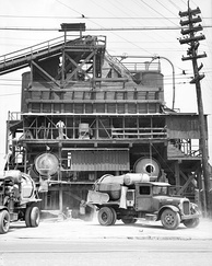 Concrete mixing plant in Birmingham, Alabama in 1936