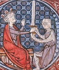 David I knighting a squire