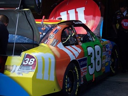 The No. 38 car driven by David Gilliland in 2007.