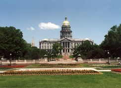 The capitol building, Colorado's political center, located in Denver.
