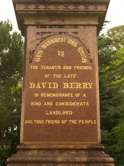 Being a good landlord, David Berry (who had owned much of what is now known as Berry - the town was named after him) is well remembered by his tenants.