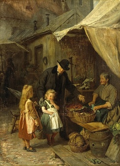 At the market by Felix Schlesinger c. 1890