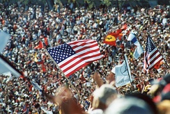 The United States Grand Prix was the first international sporting event held in the USA after 9/11.