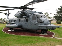 Former Knife 22, number 68-10928, upgraded to MH-53M Pave Low on display at Memorial Air Park, Hurlburt Field, Florida