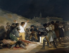 The Third of May 1808 by Francisco Goya, showing Spanish resisters being executed by French troops