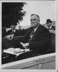 President Roosevelt at the Grand Coulee Dam in Washington, 1937