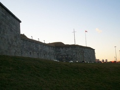 Poe was first stationed at Boston's Fort Independence while in the Army.