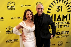 Gloria & Emilio Estefan at the 2014 Miami International Film Festival premiere of An Unbreakable Bond