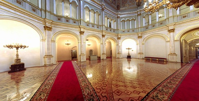 The Hall of the Order of St. Vladimir in the Grand Kremlin Palace