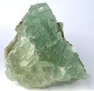 Sharp halite crystals that have this green color from inclusions of malachite