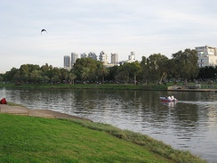 Hayarkon Park is the largest city park in Tel Aviv